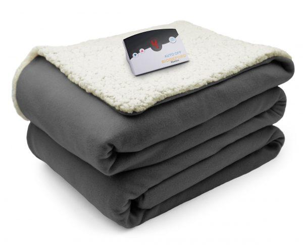 Biddeford Comfort Knit Sherpa Blanket