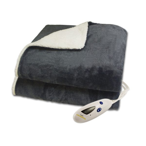 Biddeford Velour Sherpa THrow